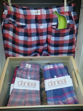 Danieal, men's underwear with pockets, are designed by Danieal Cormier and sold in Saint John and Fredericton. (photo: Cherise Letson/Wicked Ideas)