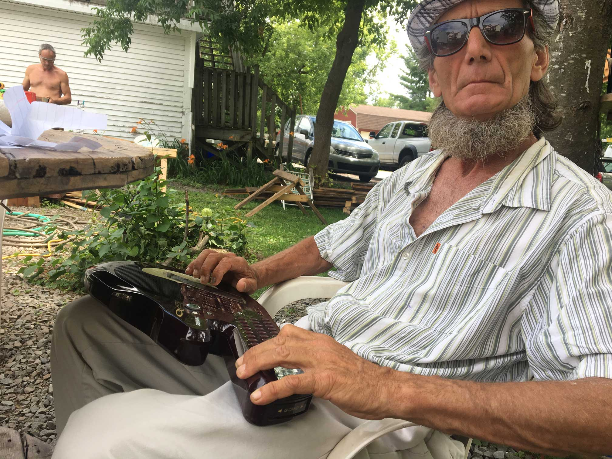 Homeless Fredericton musician looking for a place to play his songs